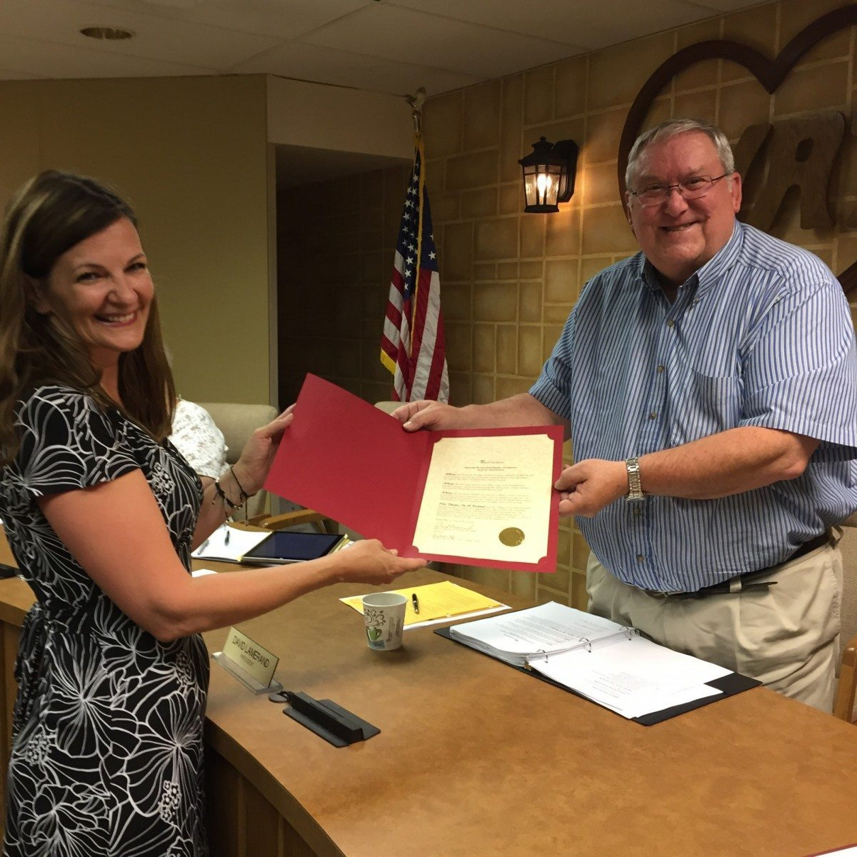 HARTLAND CHAMBER RECEIVES PROCLAMATION