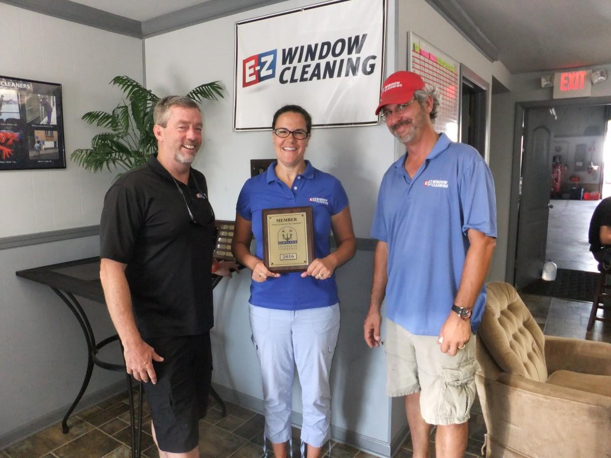 EZ WINDOW CLEANING NEW MEMBER PLAQUE PRESENTATION