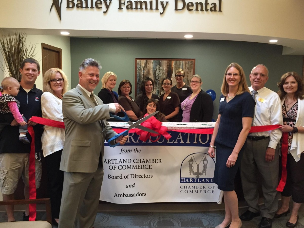 BAILEY FAMILY DENTAL GRAND RE-OPENING RIBBON CUTTING