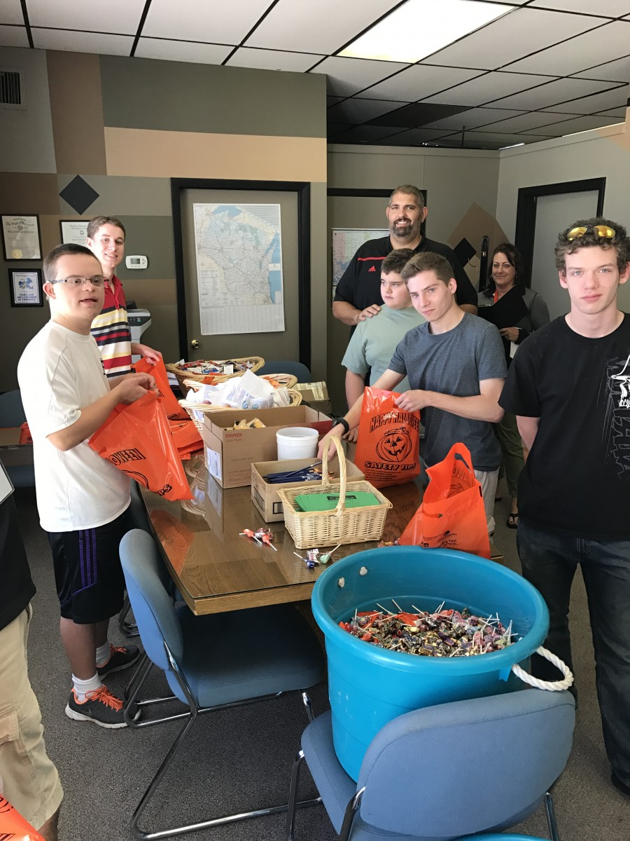 "TRANSITION STUDENTS STUFF ""BUSINESS TRICK OR TREAT"" BAGS"