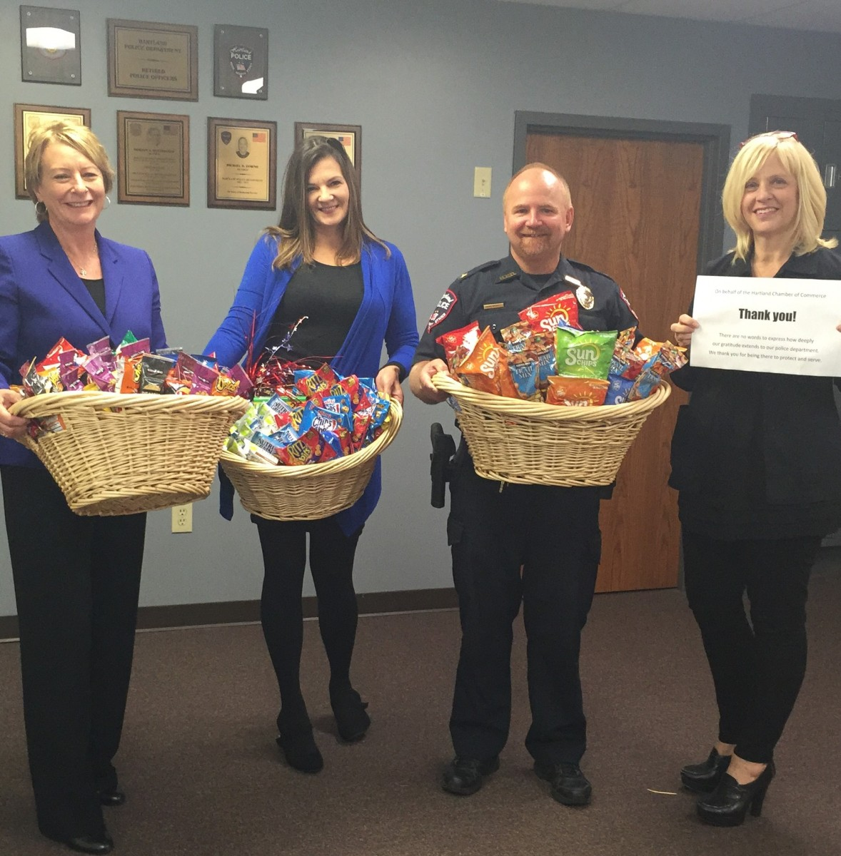 BASKETS OF TREATS FOR OUR LOCAL HEROES