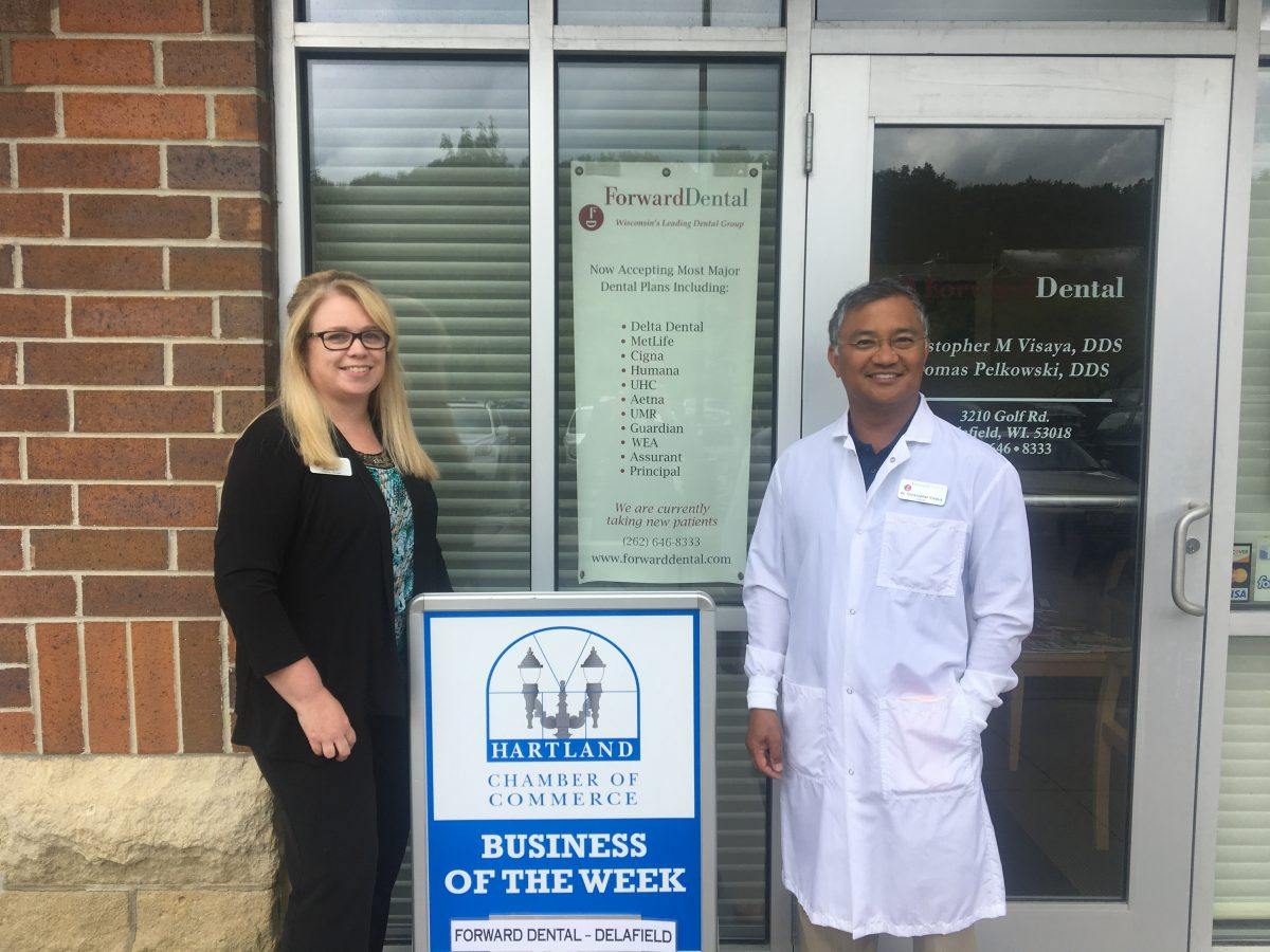 CONGRATULATIONS ForwardDental-Delafield – HARTLAND CHAMBER BUSINESS OF THE WEEK!