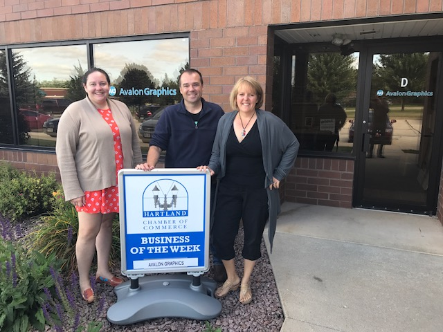 CONGRATULATIONS TO HARTLAND CHAMBER BUSINESS OF THE WEEK – AVALON GRAPHICS