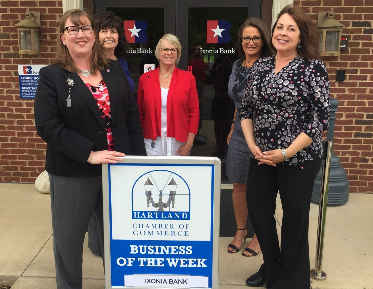 CONGRATULATIONS TO THE HARTLAND CHAMBER BUSINESS OF THE WEEK – IXONIA BANK!