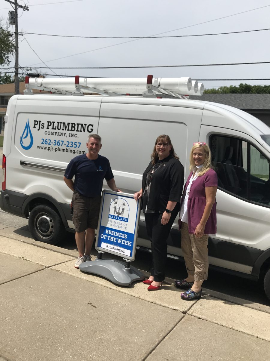 CONGRATULATIONS TO THE CHAMBER BUSINESS OF THE WEEK – PJ'S PLUMBING COMPANY, INC.