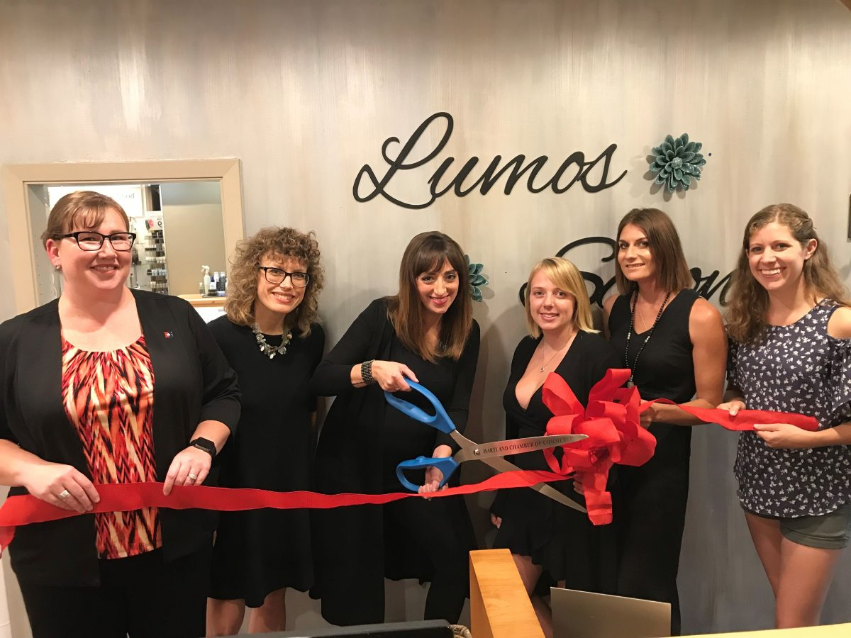 HARTLAND CHAMBER OF COMMERCE MEMBER RIBBON CUTTING – LUMOS SALON