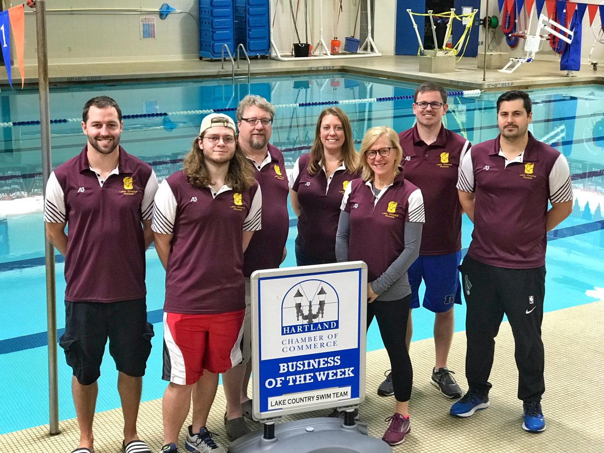 CONGRATULATIONS TO THE HARTLAND CHAMBER BUSINESS OF THE WEEK – LAKE COUNTRY SWIM TEAM!