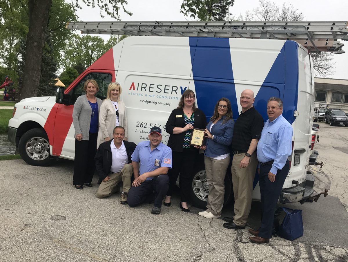 WELCOME NEW HARTLAND CHAMBER MEMBER – AIRE SERVE HEATING & AIR CONDITIONING!