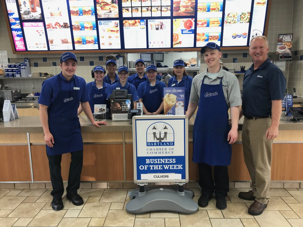 CONGRATULATIONS TO THE CHAMBER BUSINESS OF THE WEEK – CULVERS!