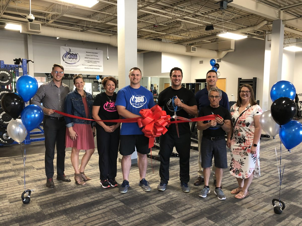THE HARTLAND CHAMBER CELEBRATES THE RE-OPENING OF 360 FITNESS, LLC WITH A RIBBON CUTTING CEREMONY!
