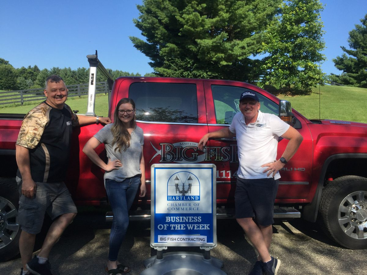 CONGRATULATIONS TO THE CHAMBER BUSINESS OF THE WEEK – BIG FISH CONTRACTING!