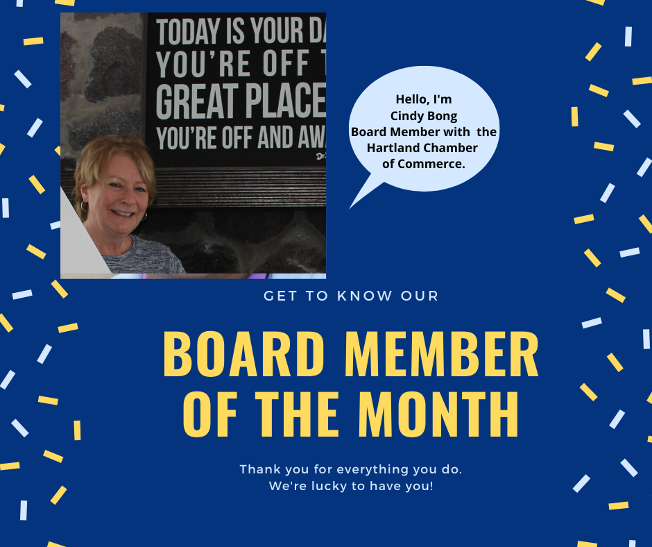 PLEASE SAY HELLO AND THANK YOU (!) TO CHAMBER BOARD MEMBER CINDY BONG!