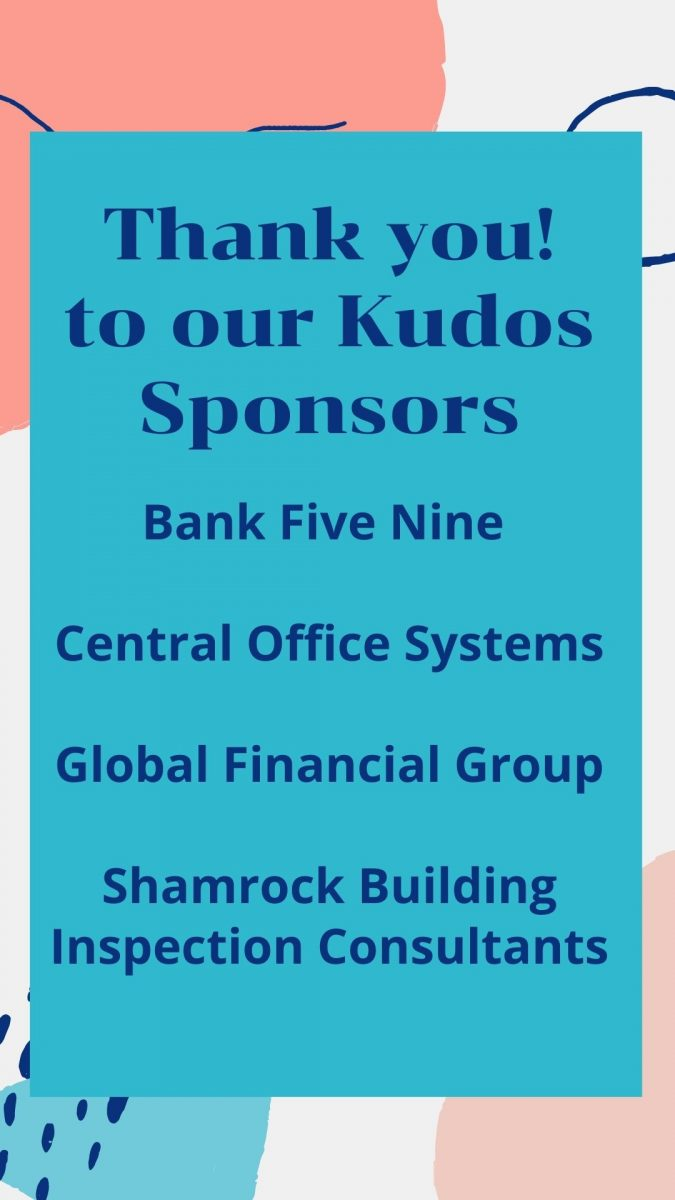 Thank you to our Kudos Sponsors……
